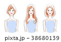女性 人物 20代のイラスト 38680139