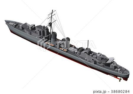 トライバル級駆逐艦のイラスト素...
