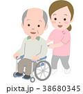 介護 シニア スタッフのイラスト 38680345