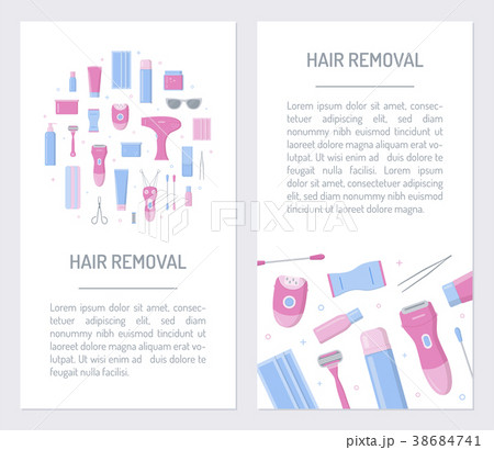 flyers for hair removal のイラスト素材 38684741 pixta