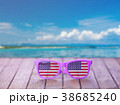 Sunglasses with american flag on wooden table 38685240