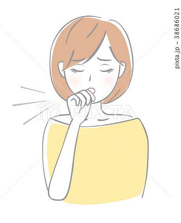 女性 咳 38686021