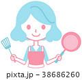 女性 料理 持つのイラスト 38686260