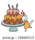 ベクター ねこ ネコのイラスト 38686313