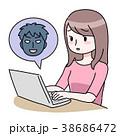 パソコン女性危険 38686472