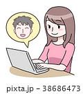 パソコン女性 38686473
