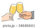 ビールで乾杯 38686601