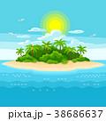 海 島 トロピカルのイラスト 38686637