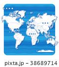世界地図 地図 世界のイラスト 38689714