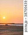 自動車 海岸 夕焼けの写真 38700439