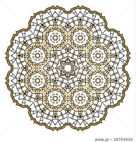 Flower Mandala. Vintage decorative elements. 38703930