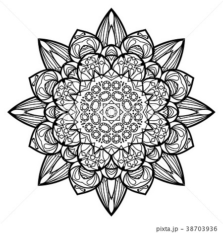 Flower Mandala. Vintage decorative elements. 38703936