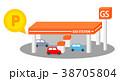 ガソリンスタンドでポイントがつく 38705804