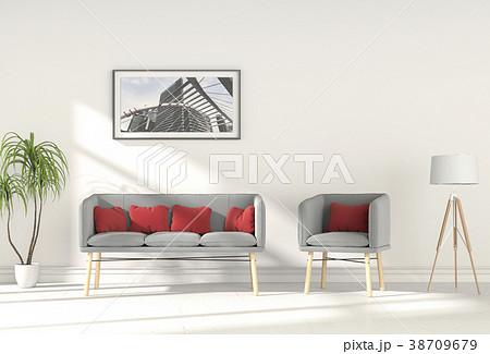 Living room interior in modern style, 3d render 38709679