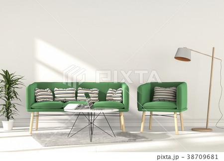 Living room interior in modern style, 3d render 38709681