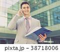 ビジネスマン 実業家 電話の写真 38718006