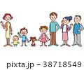 家族 仲良し ベクターのイラスト 38718549