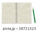 ノート 鉛筆 リングノートのイラスト 38721523