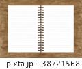 ノート リングノート ノートブックのイラスト 38721568