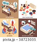 スパ 温泉 デザインのイラスト 38723035