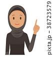 民族衣装を着たアラブの女性が指差ししている 38723579