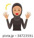 民族衣装を着たアラブの女性が驚いている 38723591