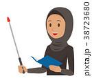 民族衣装を着たアラブの女性が指示棒を持っている 38723680