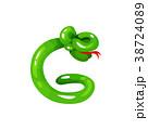 バルーン 風船 ヘビのイラスト 38724089