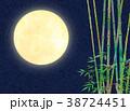 水彩イラスト 月 竹林 38724451
