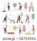 庭 庭園 ベクタのイラスト 38724501