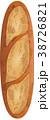 バタール フランスパン パンのイラスト 38726821