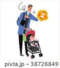 人物 子育て 父親のイラスト 38726849