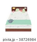 ベッドで眠る 女性 イラスト 38726984