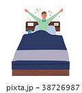 すっきり起きる イラスト 男性 38726987