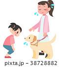 盲導犬に話しかけられて困る女性 38728882