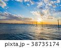 江川海岸 海 夕景の写真 38735174