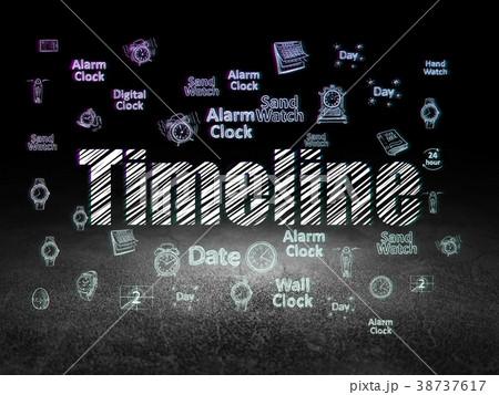 Timeline concept: Timeline in grunge dark room 38737617
