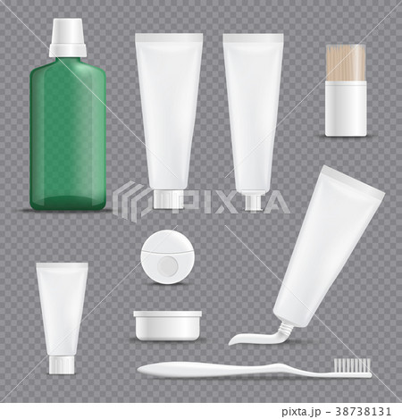 Realistic Dentifrices Transparent Background Set 38738131