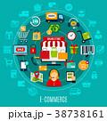 概念 Eコマース 電子商取引のイラスト 38738161