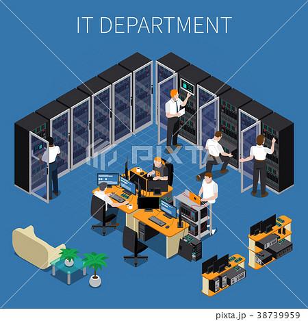 IT Engineering Isometric Composition 38739959