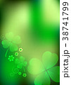 Blurred background with shamrocks 38741799
