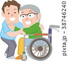 介護 高齢者 ヘルパーのイラスト 38746240