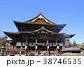 国宝善光寺本堂と獅子の香炉 38746535