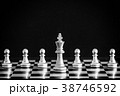The King in battle chess game stand on chessboard 38746592