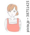 女性 エプロン 人物のイラスト 38751425