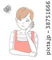 女性 エプロン 人物のイラスト 38751666