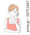 女性 エプロン 人物のイラスト 38751667
