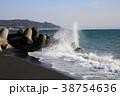 消波ブロック 海岸 テトラポッドの写真 38754636