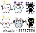 セット ピカピカ 歯のイラスト 38757550