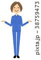 女性 作業服 作業員のイラスト 38759473